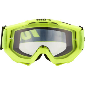 100% Accuri Anti Fog Clear Gafas enduro, fluo yellow